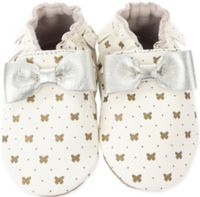 Robeez Size 6-12M Maggie Butterfly Moccasin in Gold