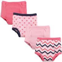 Luvable Friends Size 2T 4-Pack Chevron Toddler Training Pants in Light Pink