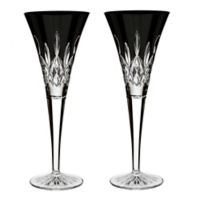 Waterford® Lismore Black Champagne Flutes (Set of 2)