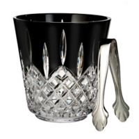 Waterford® Lismore Black Ice Bucket with Tongs