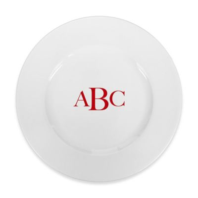 93 West Maison Rimmed Dinner Plate In White/Red