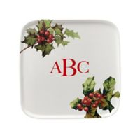 93 West Holiday Holly 9.5-Inch Square Platter