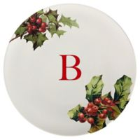 93 West Holiday Holly 11-Inch Round Platter