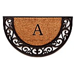 "Home & More Plantation Arch Monogram Letter ""A"" 18-Inch x 30-Inch Slice Door Mat"