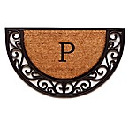 "Home & More Plantation Arch Monogram Letter ""P"" 18-Inch x 30-Inch Slice Door Mat"