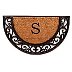 "Home & More Plantation Arch Monogram Letter ""S"" 18-Inch x 30-Inch Slice Door Mat"