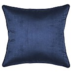 Suede 20-Inch Square Throw Pillow in Navy