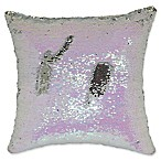 Mermaid Sequin Throw Pillow in Pink/Silver
