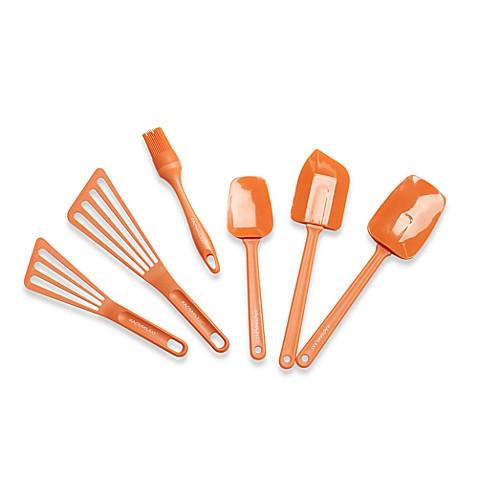 Rachael ray 6 piece kitchen utensil set orange bed for Kitchen set orange