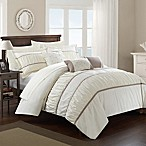 Chic Home Aero 10-Piece Queen Comforter Set in Beige