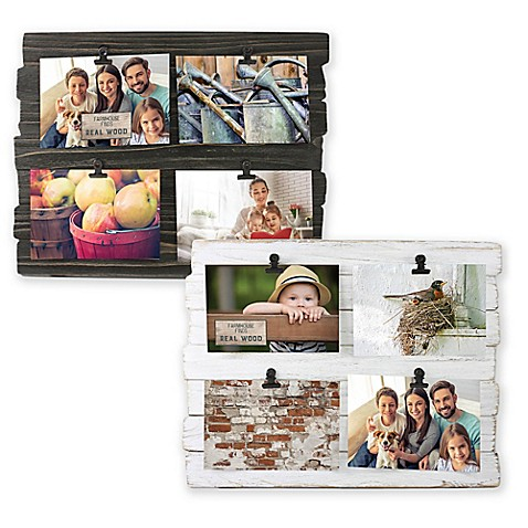 Fetco Home Décor™ Farmhouse 4-Clip Collage Frame - Bed Bath & Beyond