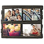 Fetco Home Décor™ Farmhouse 4-Clip Collage Frame in Black