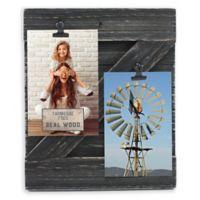 Fetco Home Décor™ Farmhouse 2-Clip Collage Frame in Rustic Black