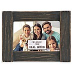 Fetco Home Décor™ Farmhouse 4-Inch x 6-Inch Rustic Wood Frame in Distressed Charcoal