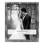 Swing Design™ Glitter Stripe 8-Inch x 10-Inch Frame With Sparkling Mirror Border in Silver