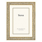 Siena 8-Inch x 10-Inch Cast Metal Frame with Enamel Finish and Glitter Gold Border