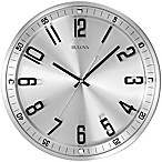 Bulova Silhouette Stainless Steel Wall Clock