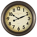 Sterling & Noble 10-Inch Bronze Wall Clock