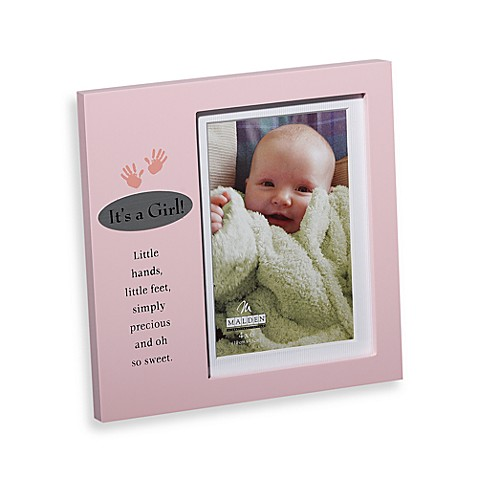 It's a Girl 4-Inch x 6-Inch Plaque Frame