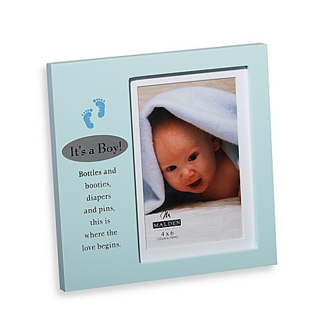It's a Boy 4-Inch x 6-Inch Plaque Frame