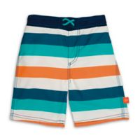Lassig™ Size 18M Stripe Board Shorts in Blue/Orange