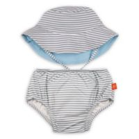 Lassig™ Size 18M 2-Piece Submarine Swim Diaper and Reversible Hat Set in Grey