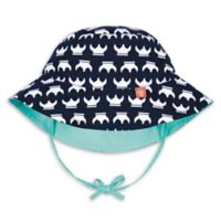 Lassig™ Size 18-36M Reversible Sun Protection Viking Print Bucket Hat in Aqua/Navy