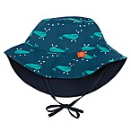 Lassig™ Size 6-18M Reversible Sun Protection Whale Print Bucket Hat in Navy/Aqua