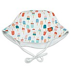 Lassig™ Size 0-6M Reversible Sun Protection Ice Cream Bucket Hat in White