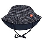 Lassig™ Size 6-18M Reversible Sun Protection Polka Dot Bucket Hat in Navy