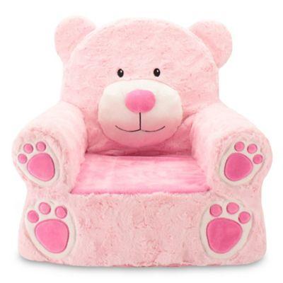 Sweet Seats® Plush Bear Chair In Pink