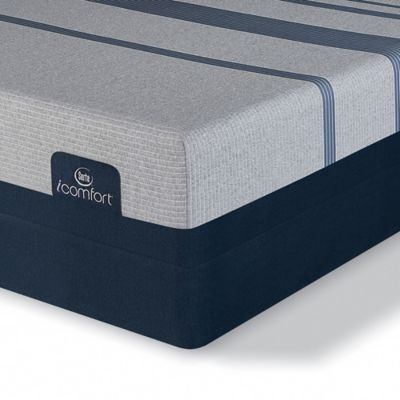 serta icomfort blue max plush low profile split queen mattress set