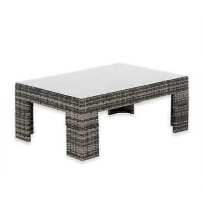 Buy Outdoor Wicker Coffee Table From Bed Bath Beyond - White wicker patio coffee table