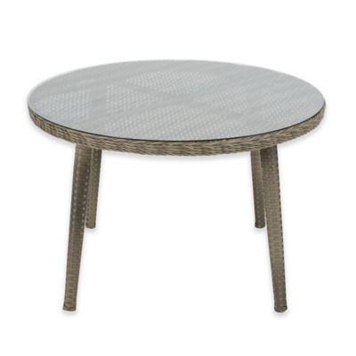 Madison Park Westin Outdoor Round Table In Grey