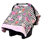 Itzy Ritzy® Cozy Happens™ Infant Car Seat Canopy and Tummy Time Mat in Pink Floral Stripe
