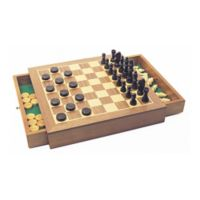 House of Marbles Deluxe Wood Chess/Checkers Game