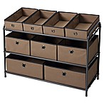 Multi Bin 10-Piece Storage Organizer in Taupe