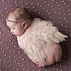 Tiny Blessings Boutique Newborn 2-Piece Rhinestone Headband and Angle Wing Set in Ivory