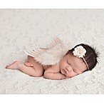 Tiny Blessings Boutique Newborn 2-Piece Flower Tie Back and Angel Wing Set in Ivory