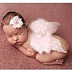 Tiny Blessings Boutique Newborn 2-Piece Flower Headband and Angel Wing Set in Pink