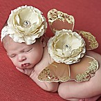 Tiny Blessings Boutique Newborn 2-Piece Headband and Butterfly Wing Set in Brown/Tan