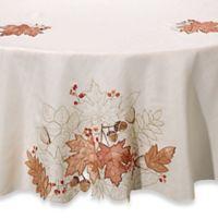 Sam Hedaya Burwell Leaf Cutwork 70-Inch Round Tablecloth in Ivory
