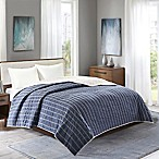 INK+IVY Alpine Full/Queen Coverlet in Navy/Beige
