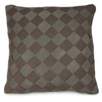 Joseph Abboud Environments Newton Herringbone Square Throw Pillow in Mocha