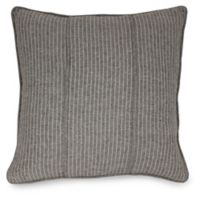 Joseph Abboud Environments Oakhill Pinstripes Square Throw Pillow in Walnut