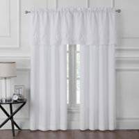 Pom Pom 84-Inch Rod Pocket Window Curtain Panel Pair in White