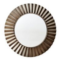Household Essentials® 37-Inch Sunburst Round Wall Mirror in Bronze