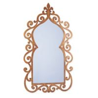 Household Essentials® 21-Inch x 38-Inch Decorative Scroll Wall Mirror in Gold