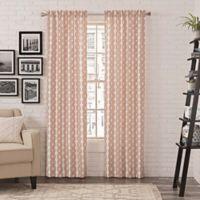 Pairs to Go™ Zaya 63-Inch Rod Pocket Window Curtain Panel Pair in Paprika