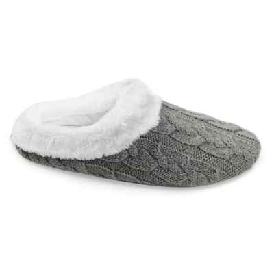 Loft Living Memory Foam Cable Knit Slippers